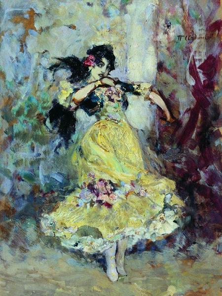 """Схема вышивки  """"Испанская танцовщица """" ."""